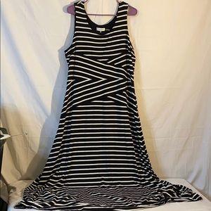 Calvin Klein Maxi Dress Black/White Size XL